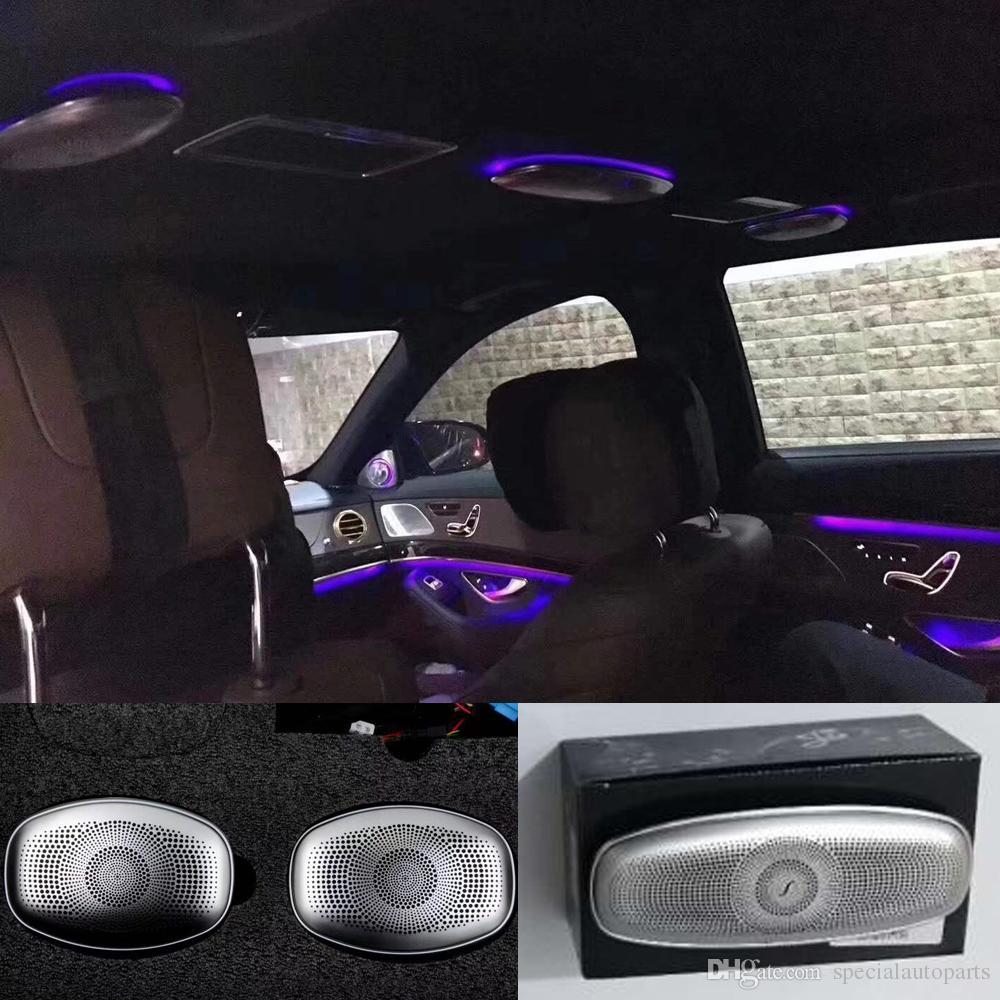 enceinte de porte pour E//C//GLC Classe W213 W205 en acier inoxydable Audio Cache de haut-parleur pour voiture 4Pcs