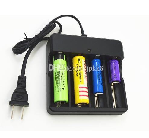 Eu Plug 4Slots Battery Charger With Protection 18650 Lithium-Ion Battery HI