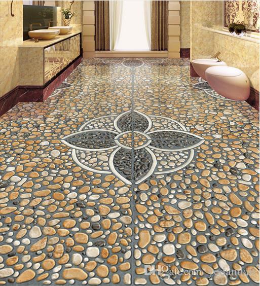 3D Floor Painting 3D Wallpaper For Walls 3 d For Living Room Bedroom Kitchen Egg stones 3D Floor Tiles