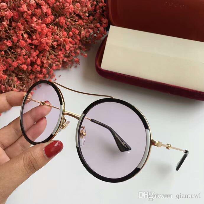 0061 Gold Metal Round Ladies Sunglasses 0061S Diseñador de moda gafas de sol para hombre gafas de protección uv Nueva caja
