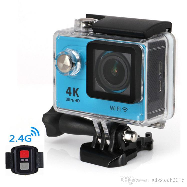 H9R Waterproof Ultra HD 4K Video Action Camera 170 degrees Wide Angle Sports Camera 2-inch Screen 1080p 60fps