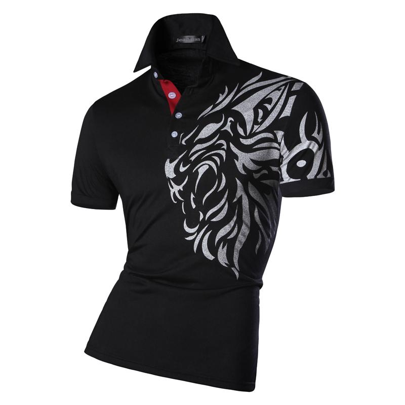 Mens-Sommer-Art- und Weisebeiläufiges Polo-Hemd entwarf kurze Hülsen-Hemd-dünne Sitz-Tendenz Normallack 4 Farben S M L Großverkauf