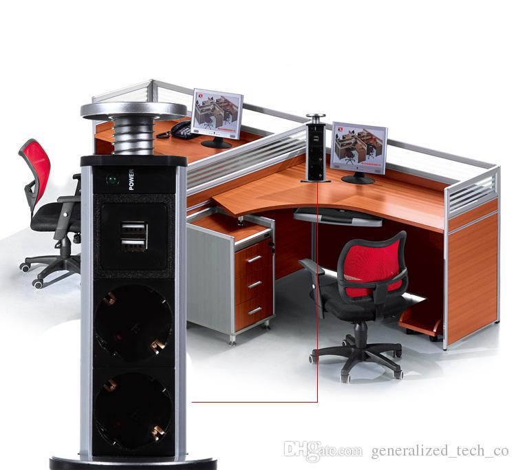 220V 16A PULL POP UP Elektrische 3 Steckdose 2 USB Küchentisch Steckdosen Einziehbar für Arbeitsplatten Arbeitsplatte