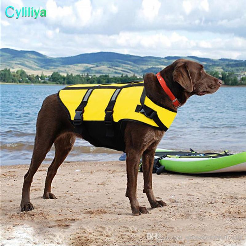 2018 الكلب التوقف الحياة سترة عاكسة الحيوانات الأليفة الحافظ متعدد حجم سترة السلامة المائية 20pcs / lot