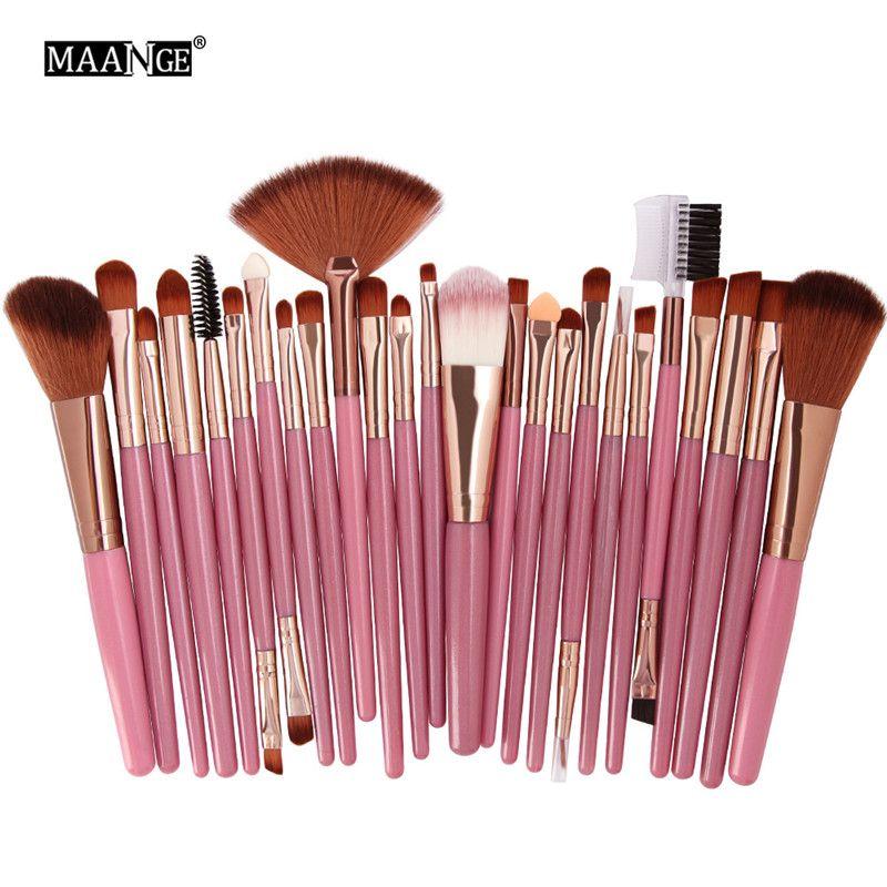 MAANGE Makeup Brush Set 25pcs Cosmetic Blusher Foundation Eye Shadow Make Up Brushes Kit Face kabuki Brush Tools