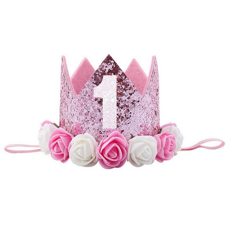 CALOFE 1st Birthday Party Hats Happy Birthday Baby Hair Accessory Decor Cap  Birthday Girls Princess Crown Flower Cap Canada 2019 From Totwo1, CAD