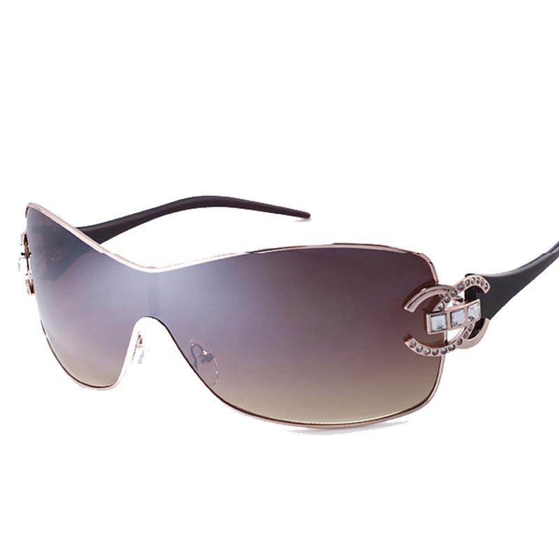 Oversizes Luxury Sunglasses for Women Brand Designer 2018 Top Quality Fashion Sunglasses Ladies Gold Frame Sun Glasses