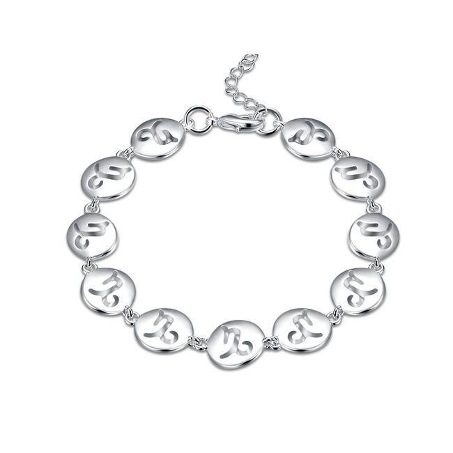 Good A++!Capricorn hand chain of fashionsterling silver plated bracelet SPB585;high quatity fashion men and women 925 silver Charm Bracelets