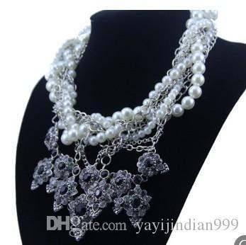 mode prix bas de haute qualité perle naturelle plusieurs couches collier de dame (16.8) rfgd
