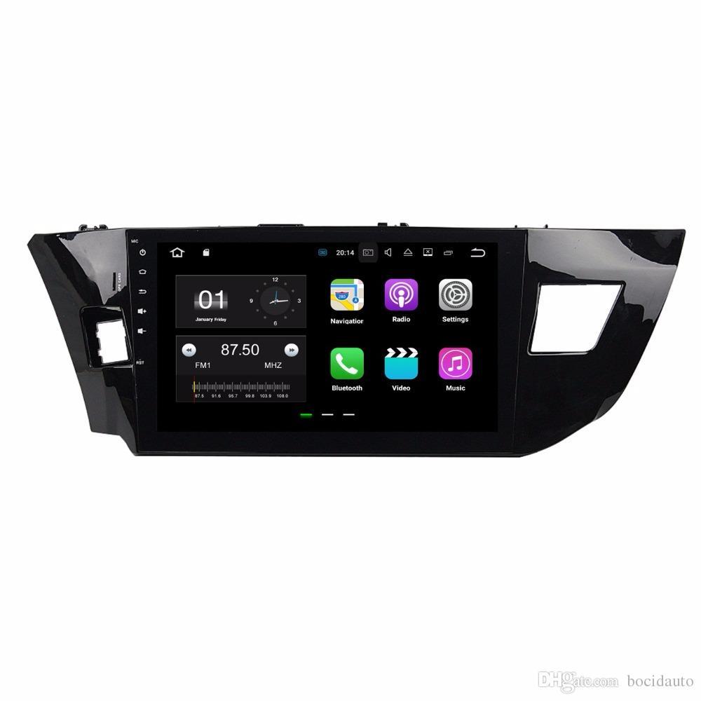 2GB RAM أندرويد 7.1 رباعي النواة راديو السيارة مشغل الوسائط المتعددة DVD للسيارة لتويوتا ليفين 2013 2014 2015 مع بلوتوث WIFI Mirror-link