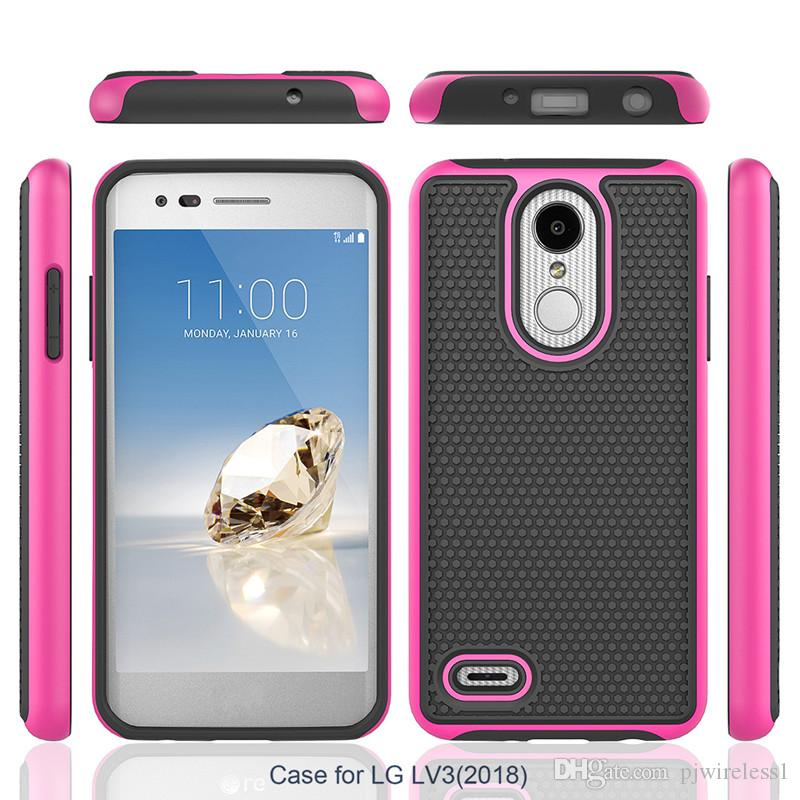 a55432f619ad Protective Case For LG Aristo 2 Metropcs X210 LV3 II For LG Tribute Dynasty  Boost Shock Proof Hybrid Defender Armor Case Cover C Silicone Phone Cases  ...
