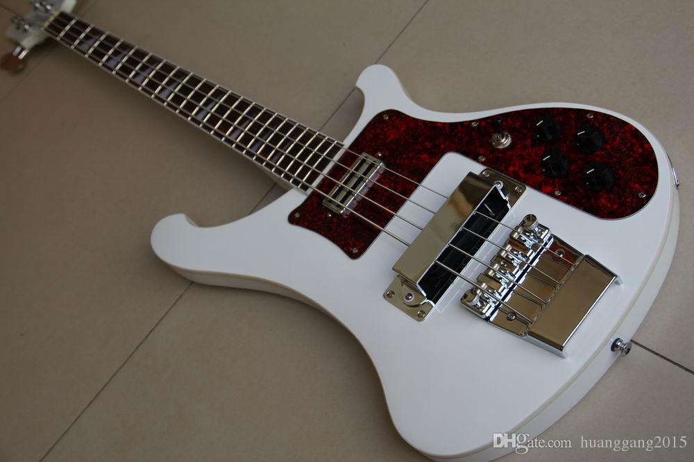 Wholesale Bass New Rickbackerbass 4003 Electric Bass Guitar Rosewood Fingerboard solid Mahoganybody in White 120415