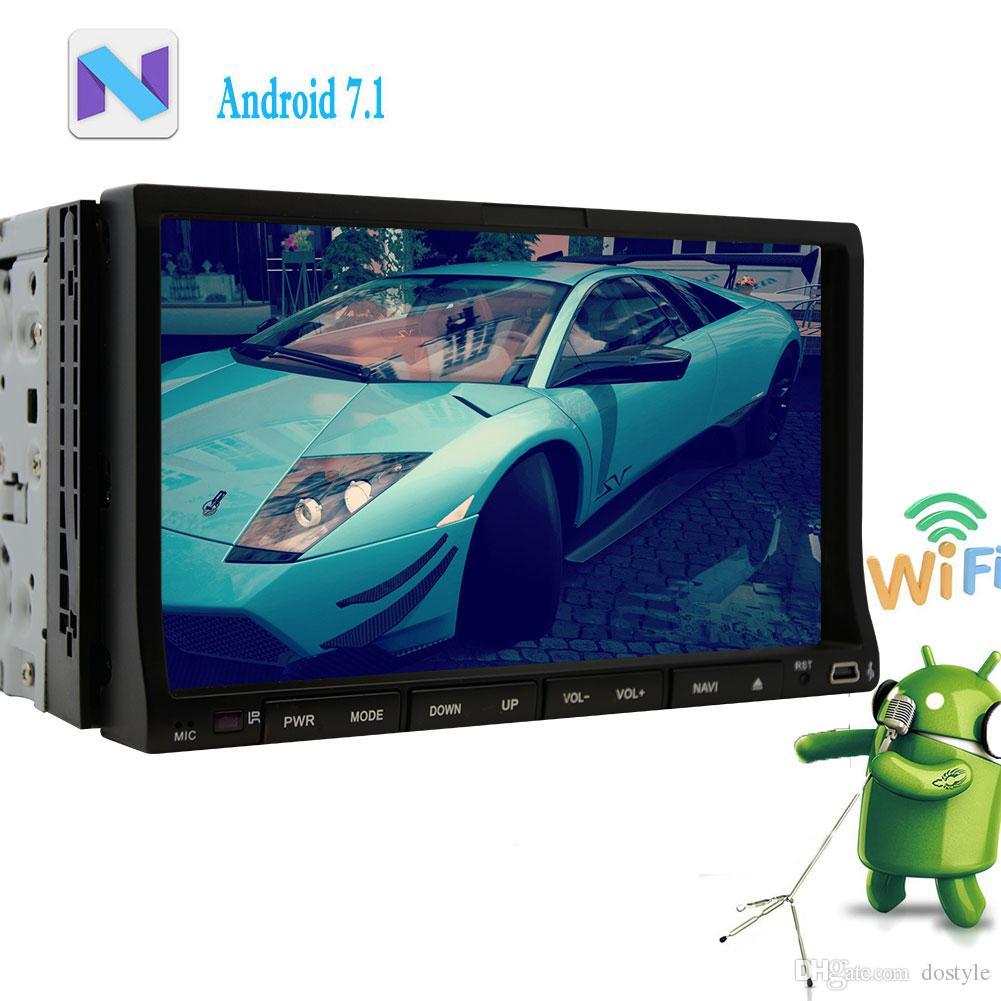 대시 자동차 스테레오 라디오 GPS 네비게이션 HeadUnit 와이파이 블루투스 미러 링크 Autoradio 블루투스에 더블 2 딘 안드로이드 7.1 자동차 DVD 플레이어