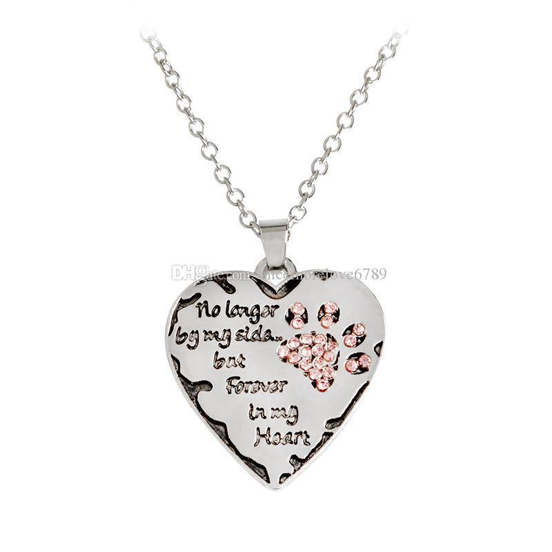 """""""non sarà più la mia parte ma per sempre nel mio cuore"""" Collana in argento con cuore rosa e argento"""