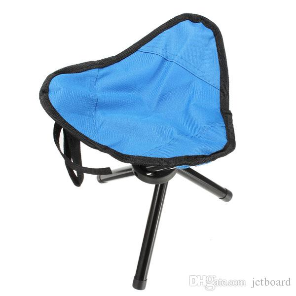 2018 High quality Portable Fishing Stool 3 Legged Metal Traveling Folding fishing Stool Chair Triangle Stool