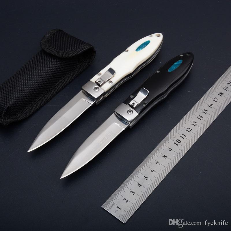 Горизонтальный Автоматический Тактический Складной Нож G10 Ручка 440C Лезвие 57HRC Открытый Отдых Выживания BK Карманный EDC Инструменты Рождественский Подарок для Человека