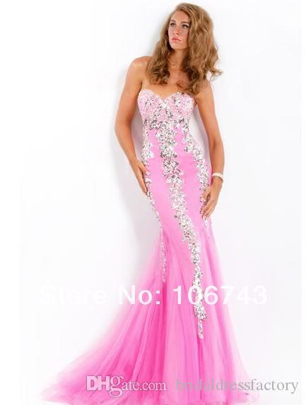 free shipping 2018 new style Sexy bride wedding sweet princess Custom size Small tail beading mermaid prom dress