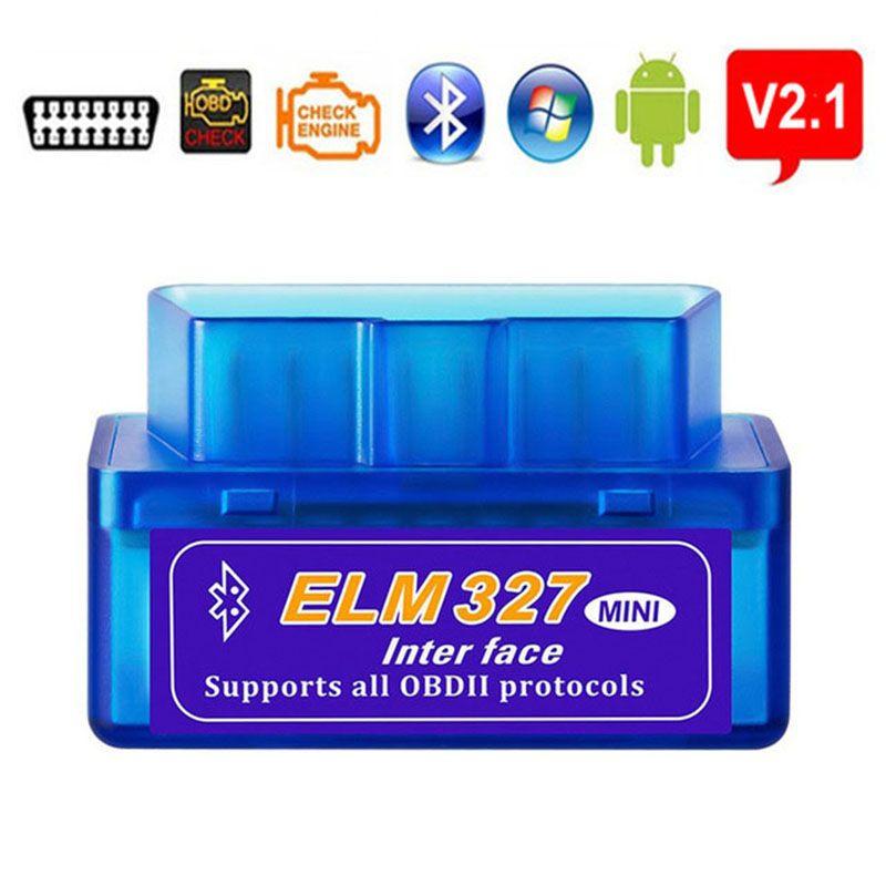 고품질 ELM327 자동차 진단 블루투스 스캐너 V2.1 OBD2 II 자동차 ELM 327 블루투스 어댑터 코드 리더 자동 스캔 도구