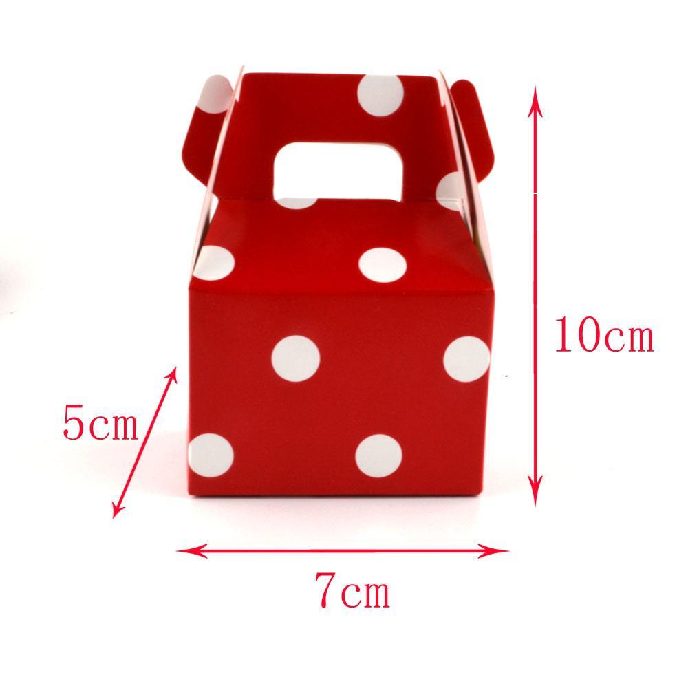 100pcs bomboniera colorato dot boxes vintage mini valigia contenitore di caramella borse dolci per bomboniere e decorazione di regali