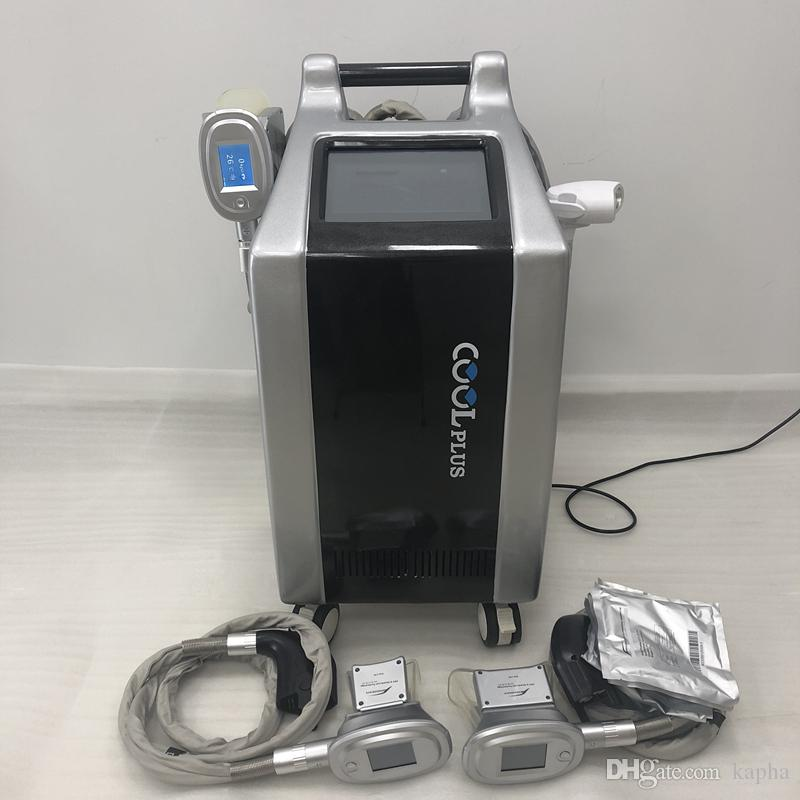 Portable fat freezing cryolipolysis criolipolisis slimming machine with double channel and wto handles can works simultaneuously