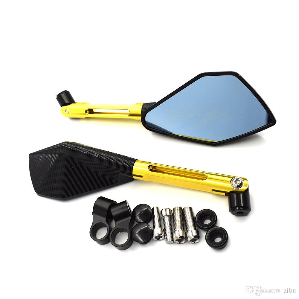 ل العالمي للطي دراجة نارية الملحقات cnc مرآة الرؤية الخلفية الجانبية مرايا لياماها mt07 mt09 tmax 530 500 TDM 900