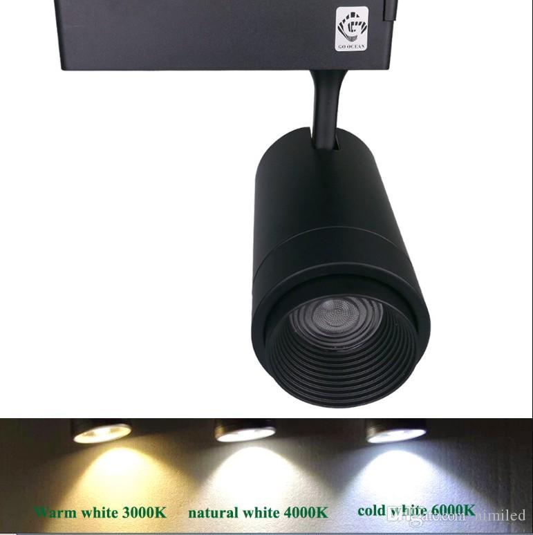 المسار الإضاءة LED مسار الضوء الثابت تكبير قابل للتعديل 20W بقعة السكك الحديدية LED تتبع أضواء السكك الحديدية مصباح آرت ديكو LLFA