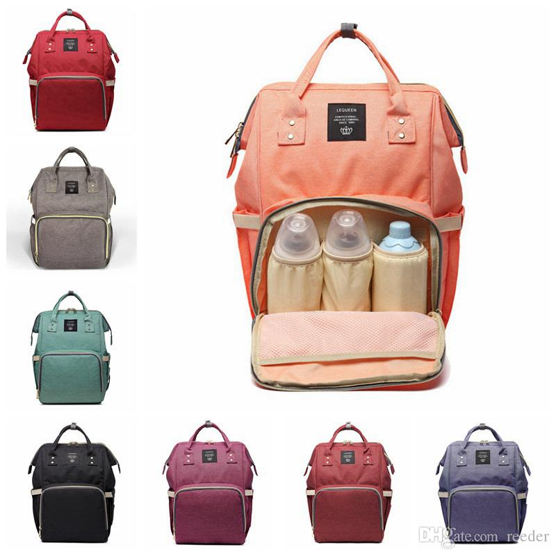 14 Colors New Multifunctional Baby Diaper Backpack Mommy Changing Bag Mummy Backpack Nappy Mother Maternity Backpacks 20pcs H02r