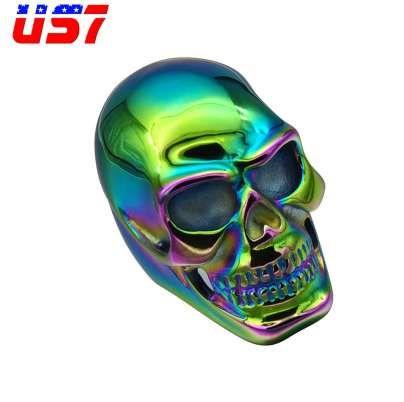 US7 Punk Gótico Arco Iris de Titanio de Acero Inoxidable Biker Esqueleto Anillos Arco Iris Esqueleto Anillo Para Hombres Joyería de Hip Hop