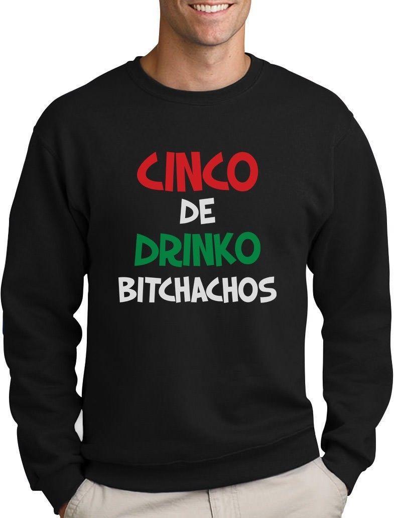 CINCO DE DRINKO BITCHACHOS-Cinco De Mayo Donna Manica Lunga T-shirt idea regalo
