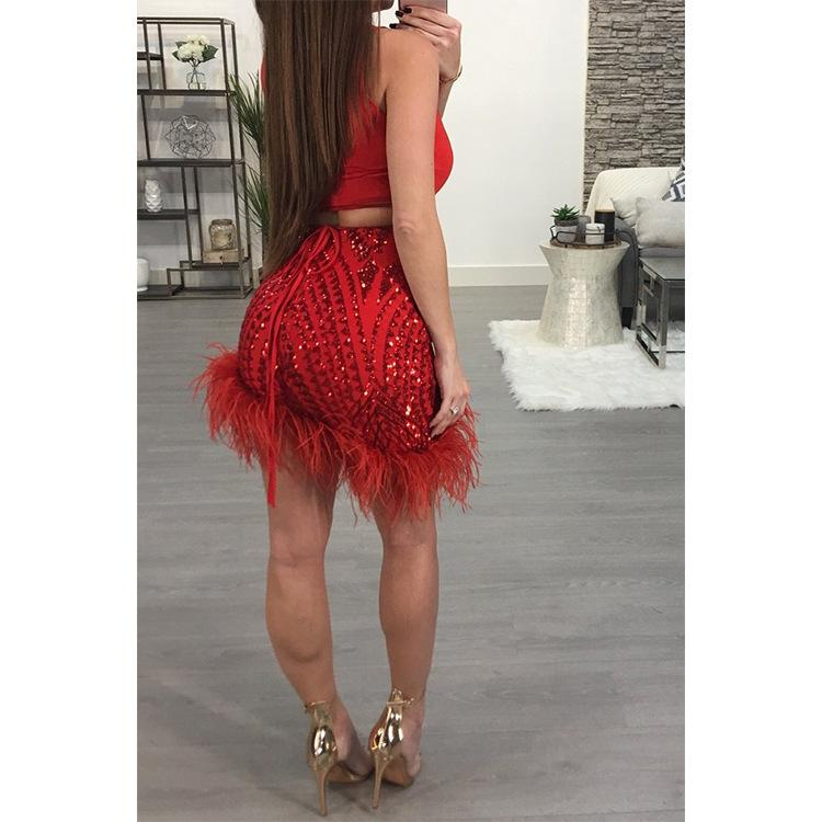 women two piece outfits skirt