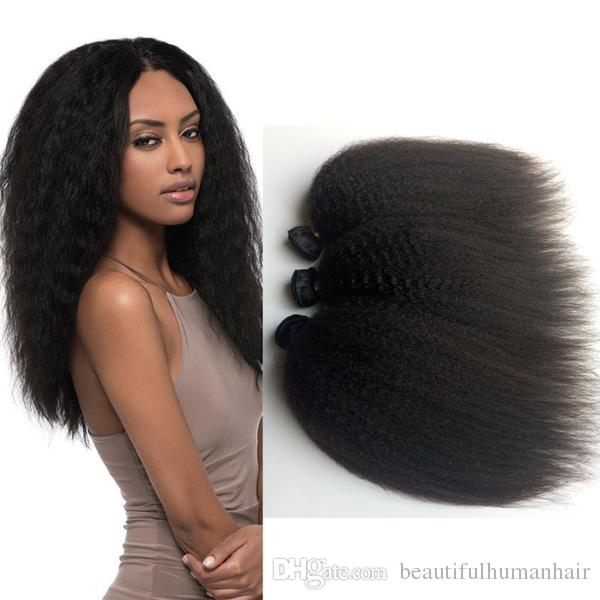 Black woman popular Peruvian Brazilian virgin hair extension 8-26inch Kinky Straight hair Double weft cheap Mongolian Indian remy Hair
