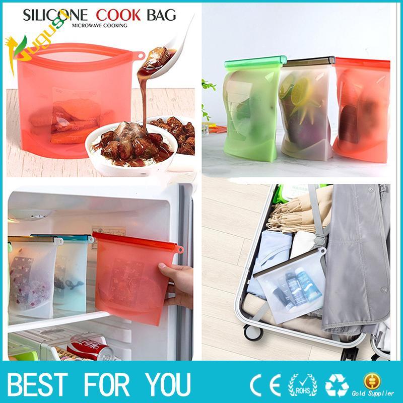 Новый горячий многоразовый вакуумный Силиконовый мешок еды герметик молоко фрукты мясо хранения сумки холодильник контейнеры для хранения продуктов питания холодильник мешок