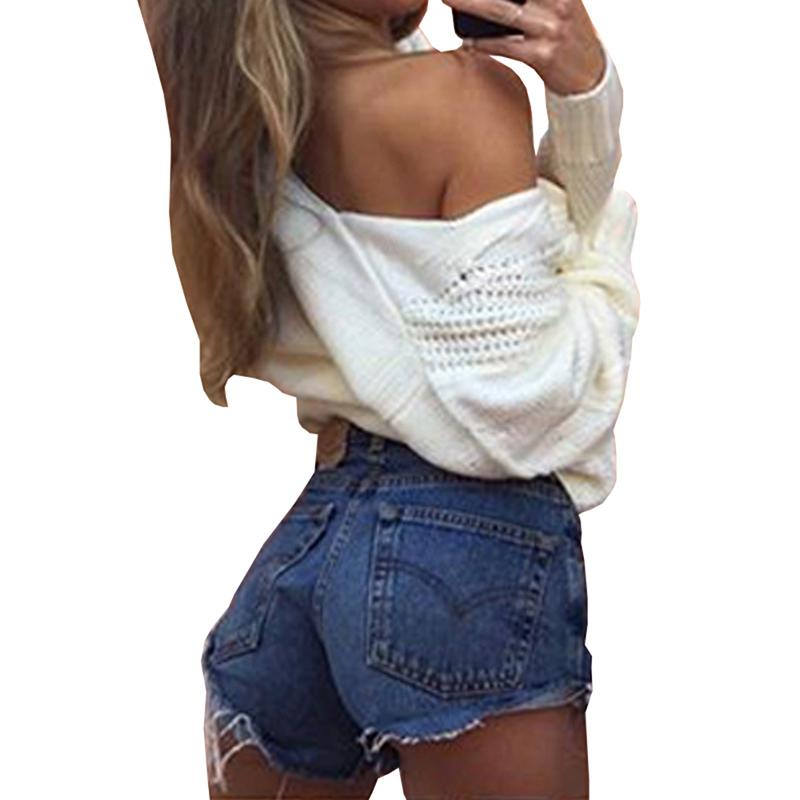 ade801e04f89ec Winter Knitted Sweater Women 2018 Autumn White Pullover Sweater Sexy Deep V  Neck Long Sleeve Jumpers Pull Femme Sweter Mujer UK 2019 From Hannahao