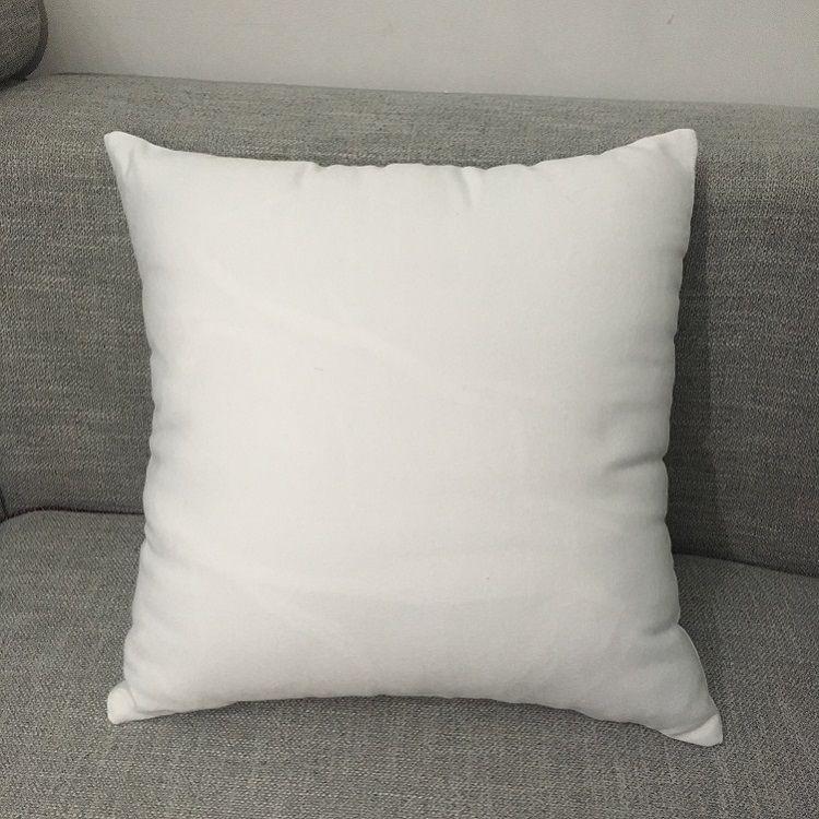 """16 """"x16""""흰색 폴리 에스터 베개 커버 순수한 흰색 베개 커버 blank 100 % 폴리 에스터 캔버스 쿠션 커버 승화 용"""