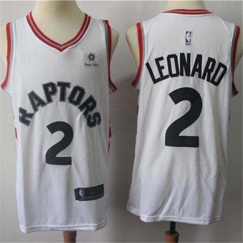 a33398ed1 Leonard 2 Raptor Jersey 2019 Toronto Raptors Kawhi Leonard New Season  Jerseys 18 19 Black Red White 3 color available Embroidery and printed
