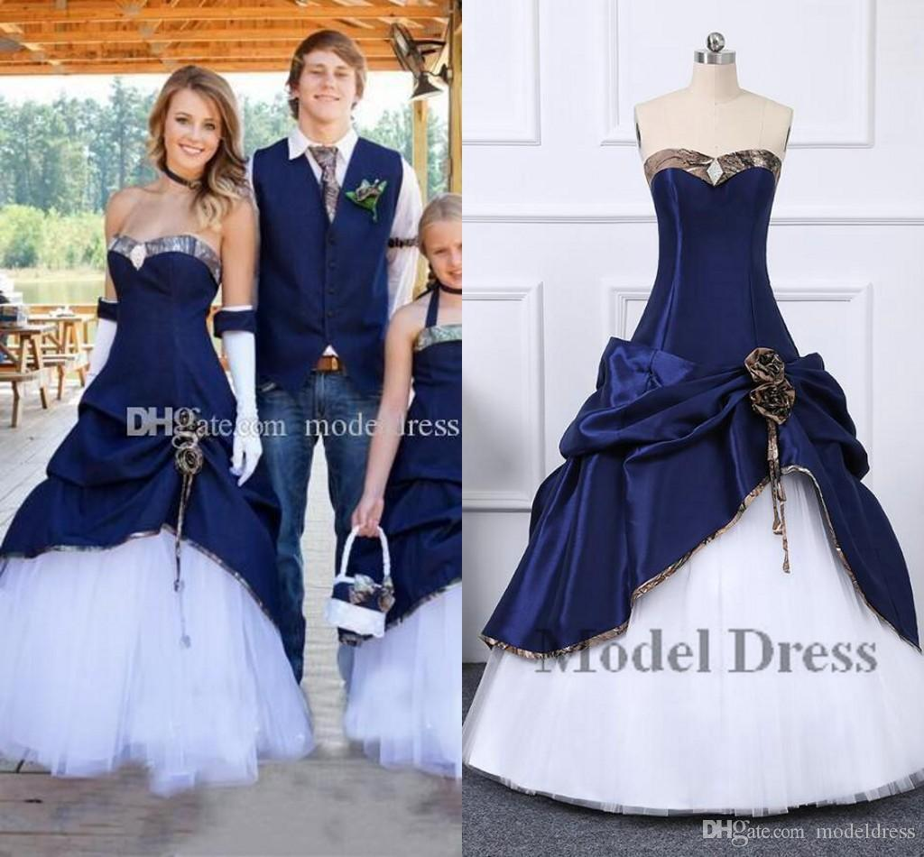 2020 New Cowboy Camo Wedding Dresses Sweetheart Pleats Corset Back A Line Floor Length Vintage Garden Country Bridal Gowns Vestidos De Noiva