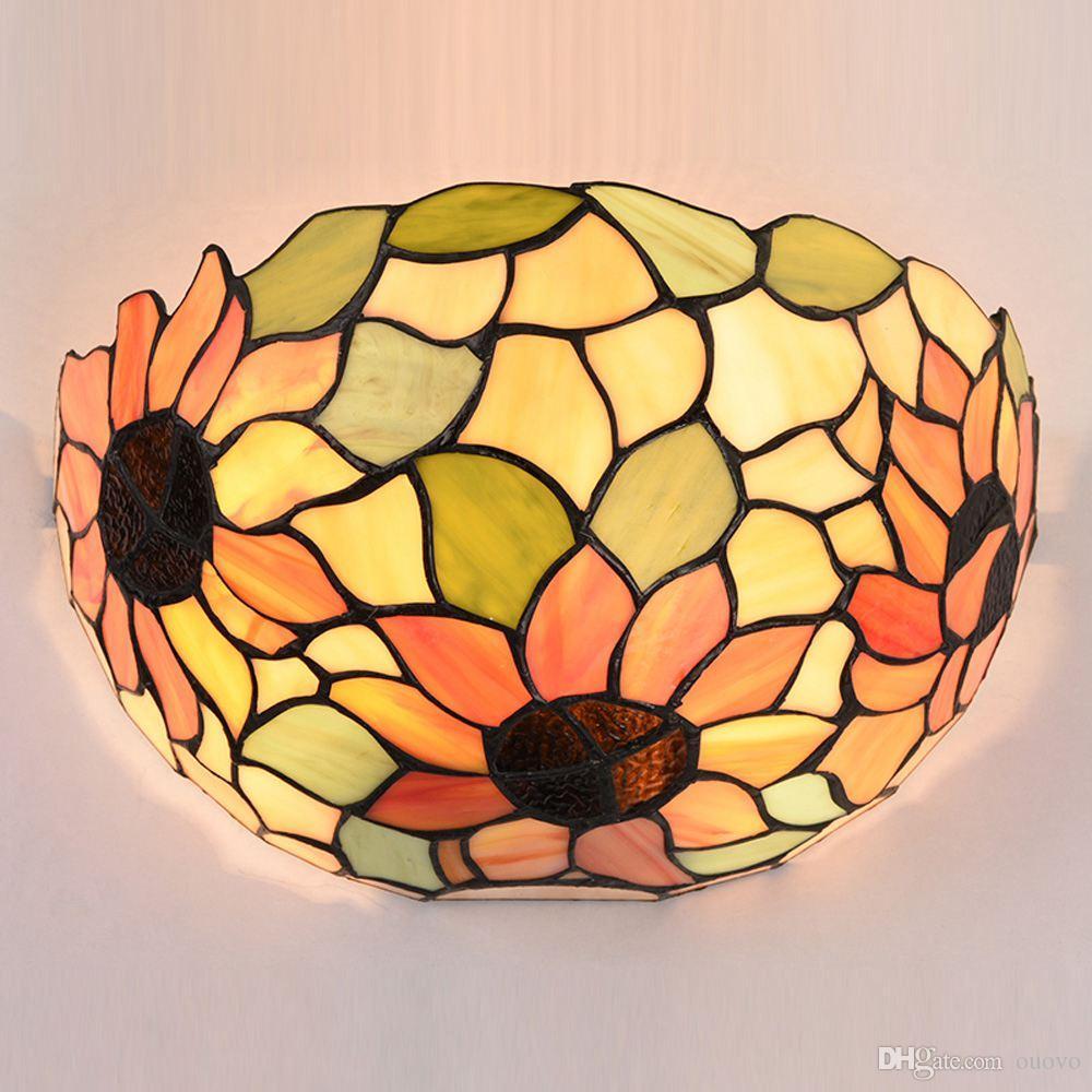 Europejski Dargonfly Korytarz Korytarz Tiffany Sypialnia Bedsides Balkon Lights Villa Get Roodble Lustro Frontowe światło