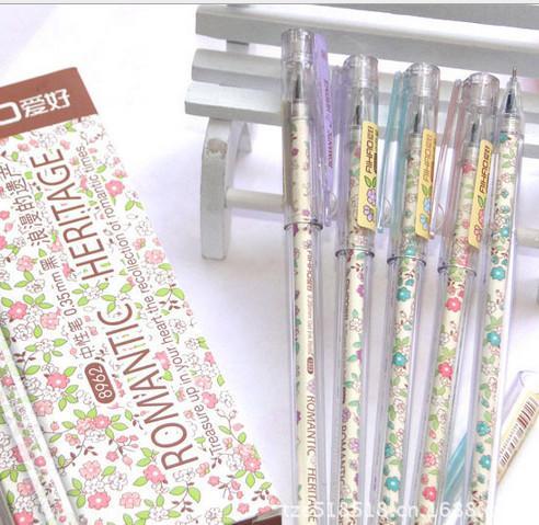 Mejor venta de pluma de gel al por mayor 120 unids / lote envío gratis papelería coreana creativa pluma neutral estudiante fuente de agua pluma 248