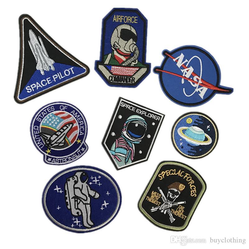 L'Univers Planète de l'Espace L'Air Force Patches Fer Sur Patch Brodé Pour Vêtements Bâton Sur Pâte Pour Vêtements Pantalon Sac