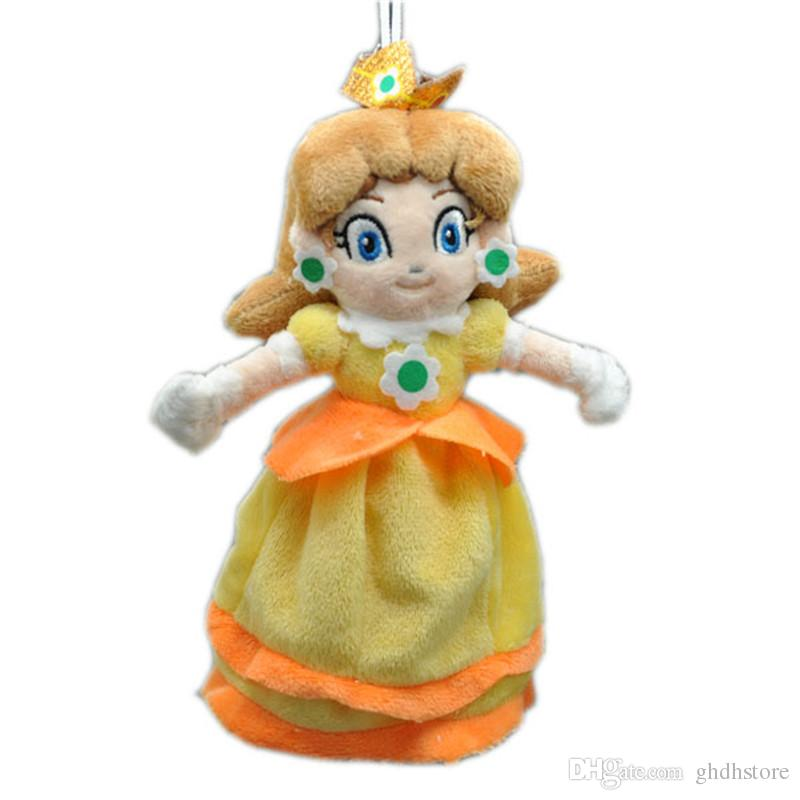 "Hot New 8"" 20CM Super Mario Bros Princess Daisy Plush Doll Anime Collectible Stuffed Dolls Best Gifts Soft Toys"
