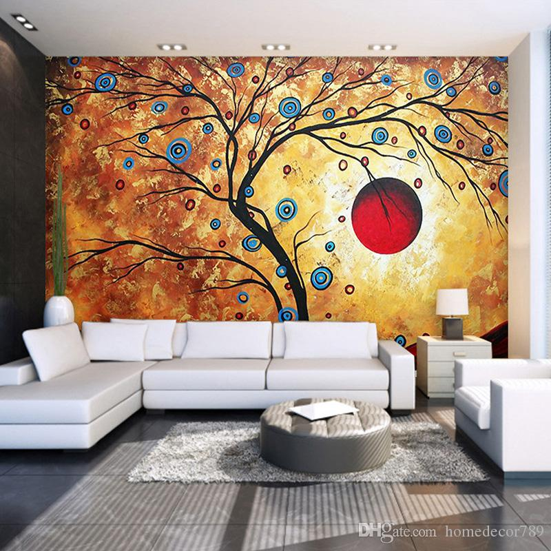 Custom Photo Wallpaper Abstract Tree Modern Art Wall Painting Living Room Bedroom Tv Backdrop 3d Large Mural Wallpaper For Home Girls Wallpapers Good
