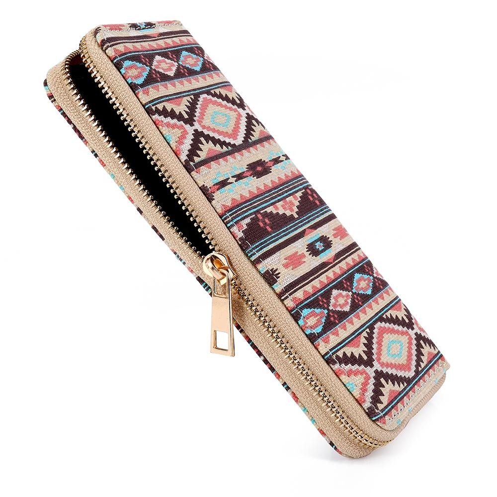 b0fd003d27af Sansarya Bohemia Woven Boho Long Women Wallet Aztec Female Purse Ladies  Tribal Card Holder Girls With Cupreous Zipper Zip Around Wallet Kids  Wallets ...