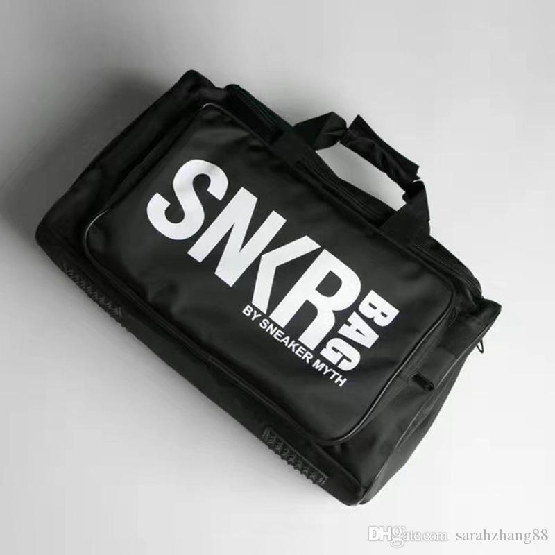스포츠 기어 체육관 더플 백 스니커즈 수납 가방 대용량 여행 수하물 가방 숄더 핸드백 신발 수납장 자루 포함