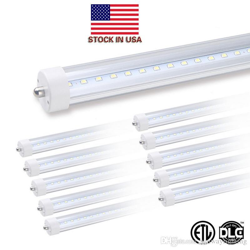8' bombillas LED de 8 pies del tubo del LED único pin FA8 LED T8 tubos de luz de 8 pies 8feet 45W LED luces de tubo de la lámpara