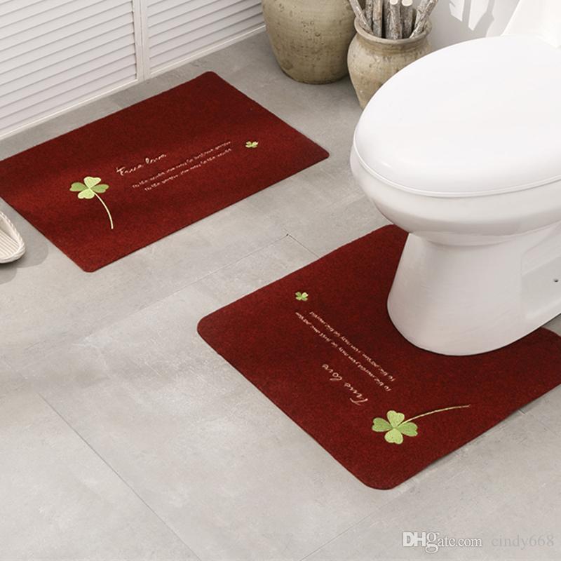 Dekor Bathmat 2 adet / takım kaymaz Banyo Paspasları Yumuşak Anti Kayma Halı Banyo Için Banyo Mutfak Halı Tuvalet Halı Için Tapete Para Banheiro