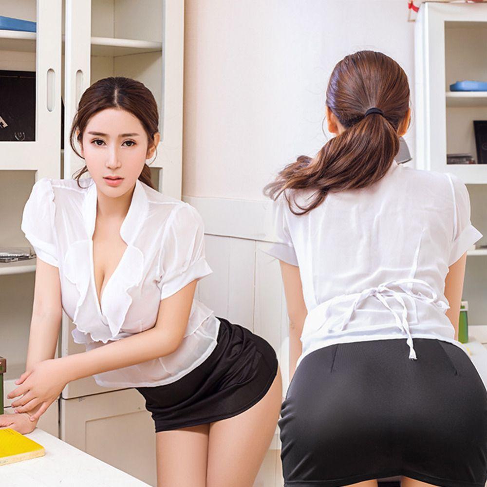 Bielizna 2018 Nowy Przyjeżdża 1 Zestaw Damska Ol Sekretarz Uniform Fancy Costume Bielizna Cosplay Babydoll Sexy Cosplay Office Sekretarz