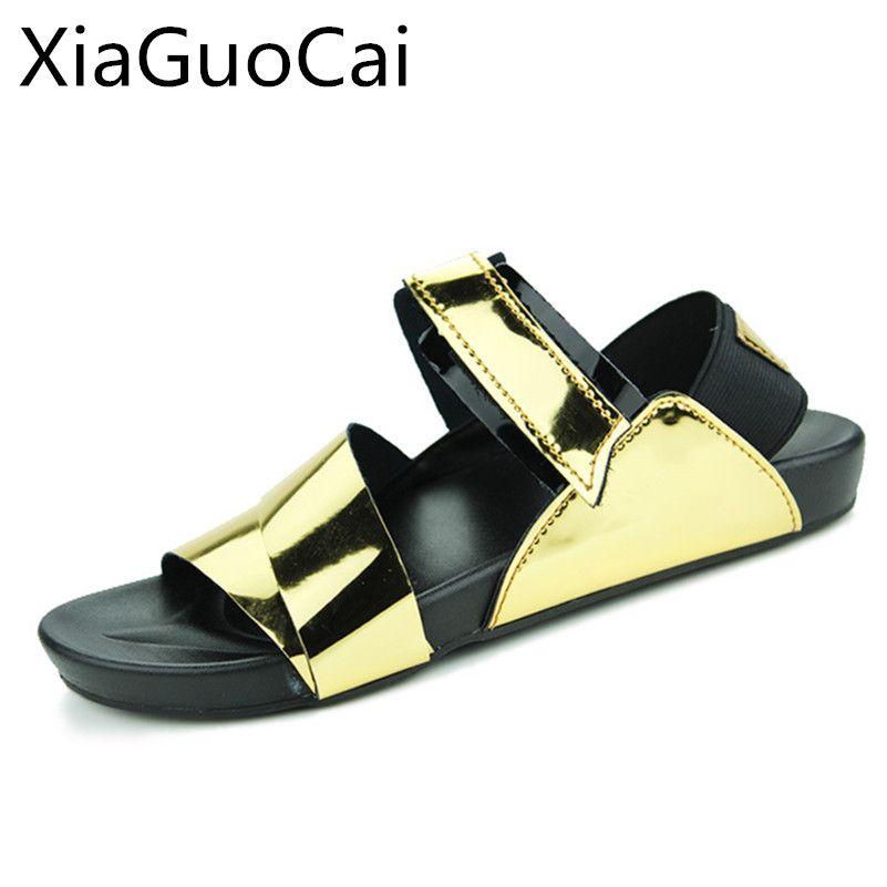 Gold Summer Men Sandals Hot Sale New