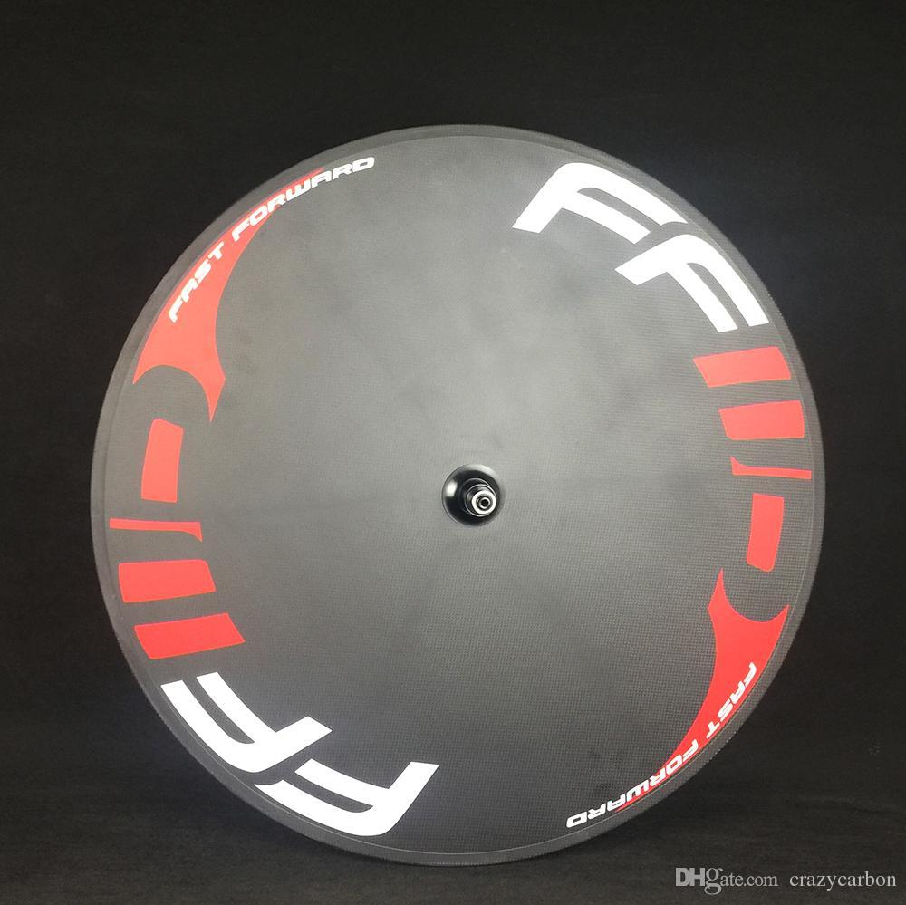 Rueda de disco de carbono FFWD Rueda de disco 700c cubierta / rueda de bicicleta tubular para bicicleta de carretera y bicicleta de pista