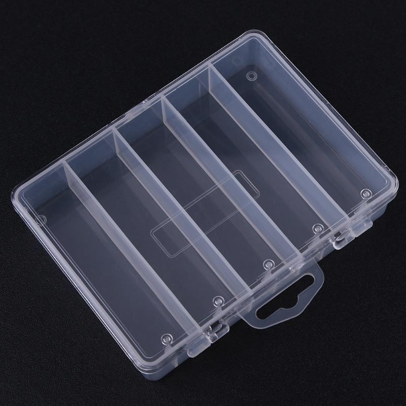 5 개의 구획 명확한 낚시 도구 상자 저장 케이스 홀더 물고기 미끼 미끼 걸이 상자 플라스틱 Pesca 어업 부속품