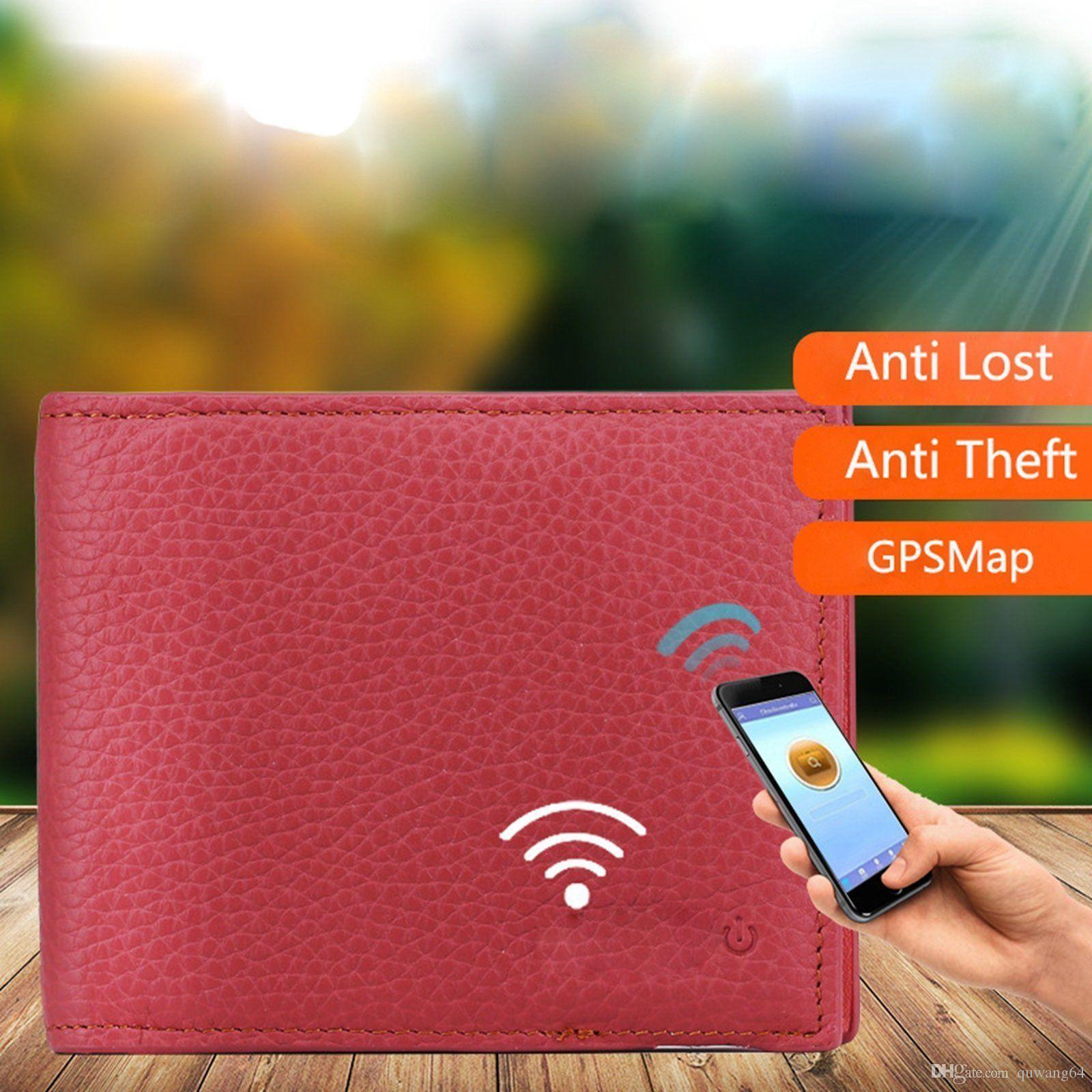 Genuine Leather Bluetooth Smart Wallet Anti Lost Finder GPS Locator Tracker GB